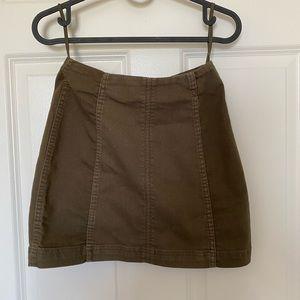 Green Free People Skirt